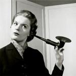 lady with a ear horn