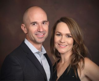 Dr. Dewsnup (ear doctor) with her husband Kevin