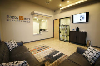 Hearing Aids Mesa AZ Check in view of Happy Ears modern lobby