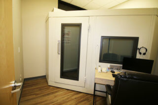 External view of Happy Ears state-of-the-art sound booth in Mesa Arizona