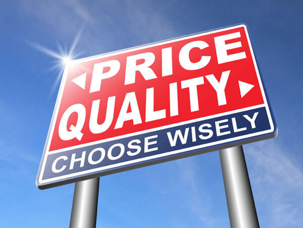 hearing aid price or quality sign